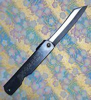 Japanese folding pocket neck Knife Chrome HIGONOKAMI L blade75mm