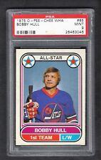1975 OPC WHA #65 Bobby Hull, HOF, PSA 9 MINT, Winnipeg Jets NHL Hockey 1975-76