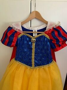DISNEY STORE Princess Girls L 9-10 up to 140 cm SNOW WHITE Gown Costume Dress