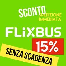 ➥ Coupon Flixbus 15% SENZA SCADENZA Codice Sconto 15% Discount Autobus