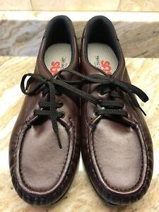 SAS Tripad Comfort Women's Burgandy Leather Lace-Up Oxford Shoes US 9.5 N