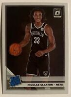 2019-20 Optic Nic Claxton Premium Rookie Base RC #171 BKN Nets Georgia Nicolas