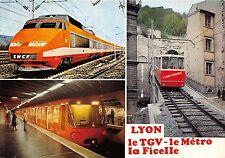 BF37882 lyon le tgv le metro la ficelle  train railway chemin de fer