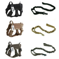 Tactical Training K9 Dog Harness Military Vest for Medium Large Dog with Handle