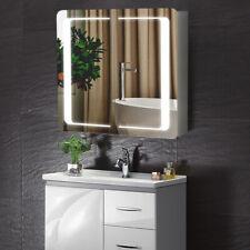 Bathroom Led Lighted Mirror Cabinet Shaver Socket Wall Anti Fog Bluetooth Sensor