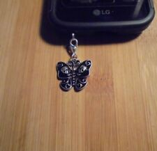 Butterfly Skull Cell Phone Clip Charm~Dust Plug Cover~Free Ship