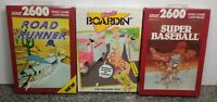 LOT OF THREE GAMES FOR ATARI 2600/7800 BRAND NEW VINTAGE RARE NOS SEALED #2