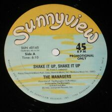 """The Managers 12"""" 45 rpm DJ PROMO SOUL FUNK Shake It Up SUNNYVIEW 1982"""