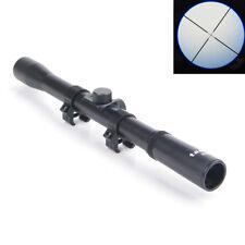 Rifle Optics Scope 4x20 Tactical Crossbow Riflescope & 20mm Rail Mounts For Hunt