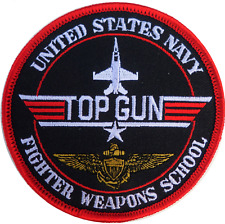 Top Gun Fighter Weapons School United States Navy USN Round Embroidered Patch