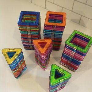 Magna-Tiles STEM Magnetic Building Blocks Toy HUGE Lot of 100+ squares