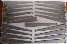 "Shelf Brackets Steel For Single Slot Rails 12 3/4"" Lot of (54) Retail"
