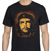Che Guevara T Shirt Revolution Leader Freedom Fighter Vintage Men's Black Tee