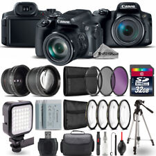 Canon PowerShot SX70 HS Camera + Wide Angle & Telephoto Lens + LED - 32GB Kit