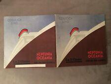 DEPLIANT 31,NEPTUNIA OCEANIA NAVI,SUD AMERICA COSULICH LINE,F.LENHART,FUTURISMO