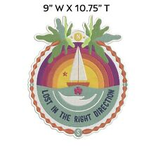 "Lost in the Right Direction Embroidered Patch Iron-On or Sew-On 10.75"" Applique"