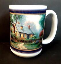 Thomas Kinkade Foxglove Cottage Ceramic Mug 12 Ounces 1999