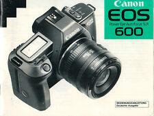 CANON - EOS Power Eye Autofocus 600 - Bedienungsanleitung - B2133