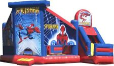 Jumping Castle Spiderman Jumping Slide Castles Party Event Childrens *HIRE ONLY*