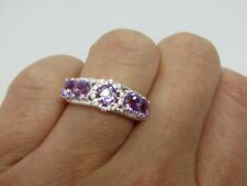 Gemporia Sterling Silver Amethyst Ring Brand New size L/M with pouch