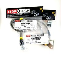 Front /& Rear Set // 40007+40500 Stoptech Stainless Steel Braided Brake Lines