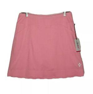 Jofit Scalloped Golf Skirt Skort L Pink NEW