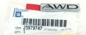 Buick LaCrosse Enclave Regal rear chrome black AWD Nameplate Emblem new OEM