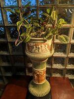 Roseville Pottery 1930s Donatello Jardiniere and Pedestal!