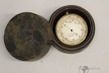 alter Höhenmesser Taschen pocket  Barometer aus Messing England 19.Jh.