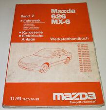 Werkstatthandbuch Elektrik Mazda Band 2 626 MX-6 Typ GE Fahrwerk Karosserie 1991