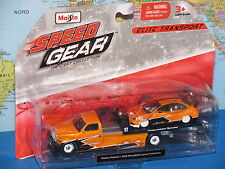 MAISTO SPEED GEAR MAISTO FLATBED / 2008 MITSUBISHI LANCER EVOLUTION *NEW & VHTF