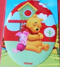 WINNIE THE POOH AND PIGLET IRON ON APPLIQUE MOTIF PATCH, BRAND NEW