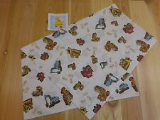 "Construction WORK ZONE PILLOWCASE White Brown Standard 30"" x 19"" Jumping Beans"