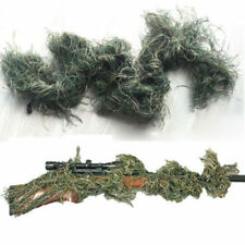 WOODLANDS 3D CAMOUFLAGE RIFLE COVER GHILLIE WRAP SNIPER HUNTING PAINTBALL