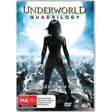 UNDERWORLD Quadrilogy-DVD-Kate Beckinsale-Region 4-New AND Sealed-4 DVDs