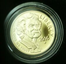 2016-W Mark Twain $5 Commemorative Gold Coin Gem Proof With Box & COA