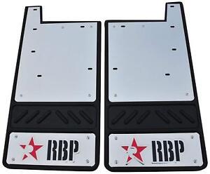 RBP 757091-SS Fits 2004-204 Ford F-150 Mud Flap Rear Red & Black w/ Stainless BG