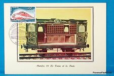 SNCF TGV WAGON 1847 Carte Postale Maximum FDC Yt C 1802 BIS