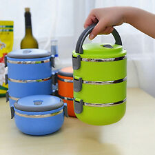 KD_ Thermal Insulated Multilayer Lunch Box Picnic Bento Mess Tin Hot Magic