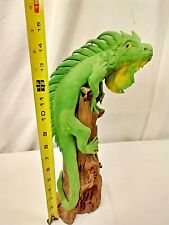 """16"""" Dragon Iguana Figure On Deadwood-Highly Detailed And Realistic"""