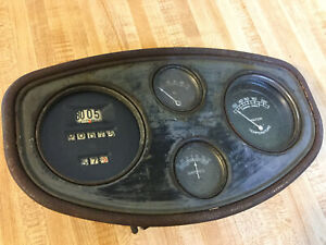 OLD SPEEDSTER PREWAR RACE CAR GAUGE SCTA VINTAGE DASH INSTRUMENT PANEL TROG LQQK