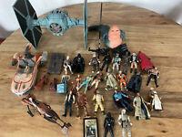 Star Wars Toy Lot - 28 Figures Ships POTF 95 Kenner + More