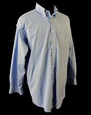 Brooks Brothers Original Polo Mens Dress Shirt Blue Checks Button Down 17 33