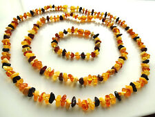 Genuine Baltic Amber Necklaces and Bracelet  For mom and baby