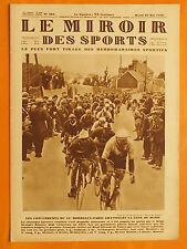 Le Miroir des Sports N° 484 du 28/5/1929-Les concurrents du 35ème Bordeaux-Paris