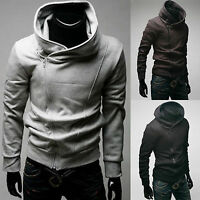 Mens Clothing Hoodie Sweatshirt Gym Jacket Hooded Zip Up Pullover Jumper Outwear