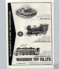 1969 PAPER AD Japan Japanese Toy Space Ship Locomotive Train Silver Mountain