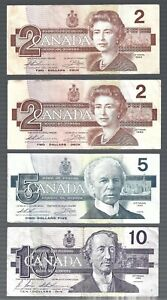 Canada 🎇 Bank of Canada 2, 2, 5 & 10 🎇  REPLACEMENT, RADAR & BIRTHDAY note lot