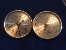 Barómetro Y Reloj insertar 108 mm/4 1/4 pulgadas de color oro