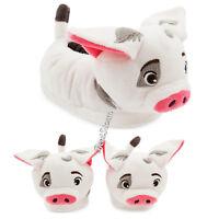 DISNEY Store Moana Pua Pig Plush SLIPPERS for KIDS 5/6 7/8 9/10 11/12 13/1 NWT